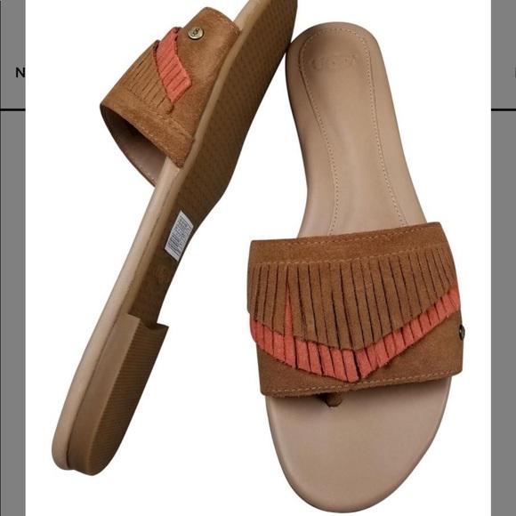 7d2abca763ea UGG Binx slide on fringe sandal